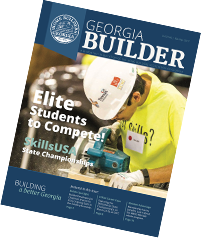 front of Georgia builder magazine, march/april issue